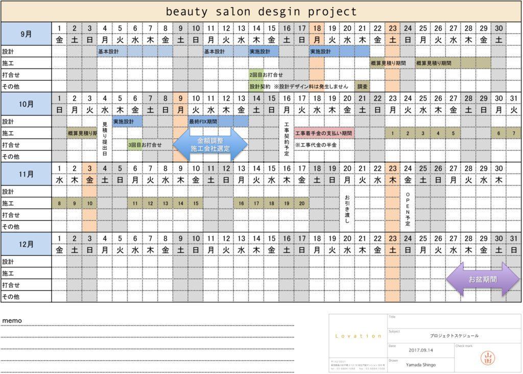 プロジェクトスケジュール