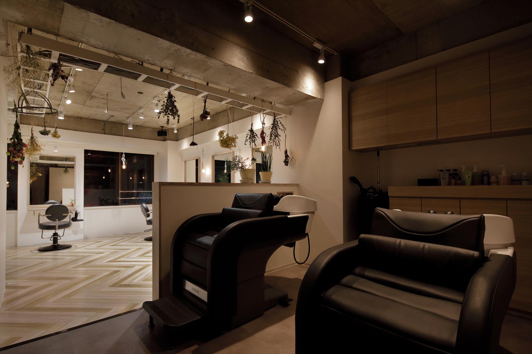 東京の美容室aisシャンプースペースデザイン