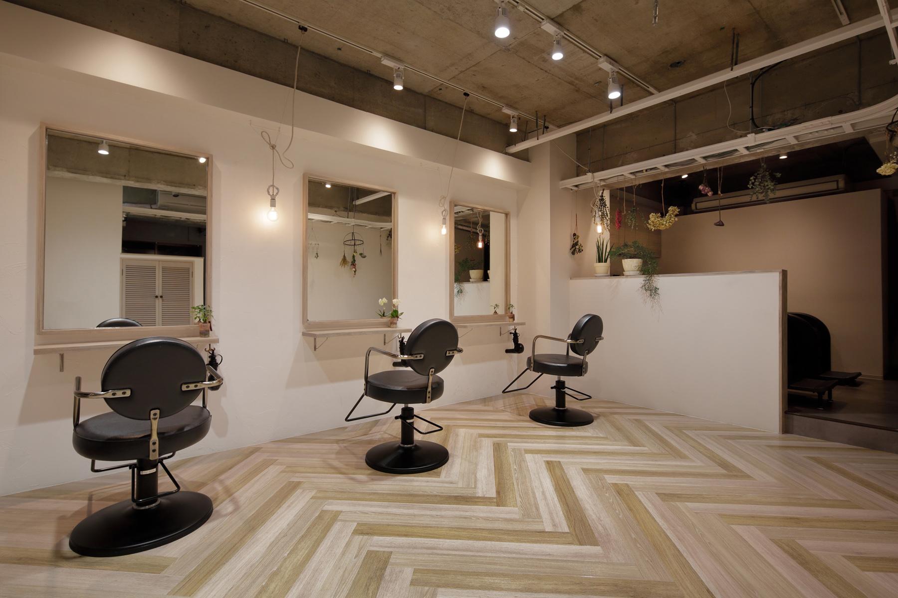 東京の美容室ais内装デザイン