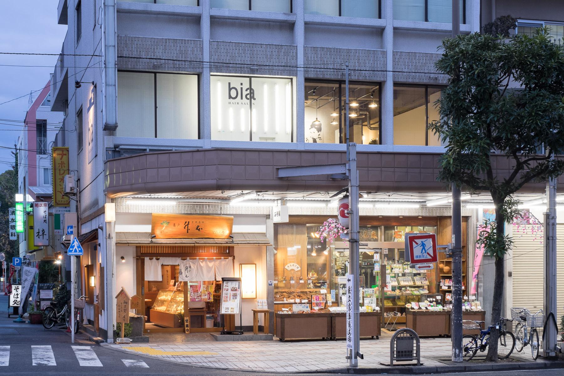 東京の美容室bia外観デザイン