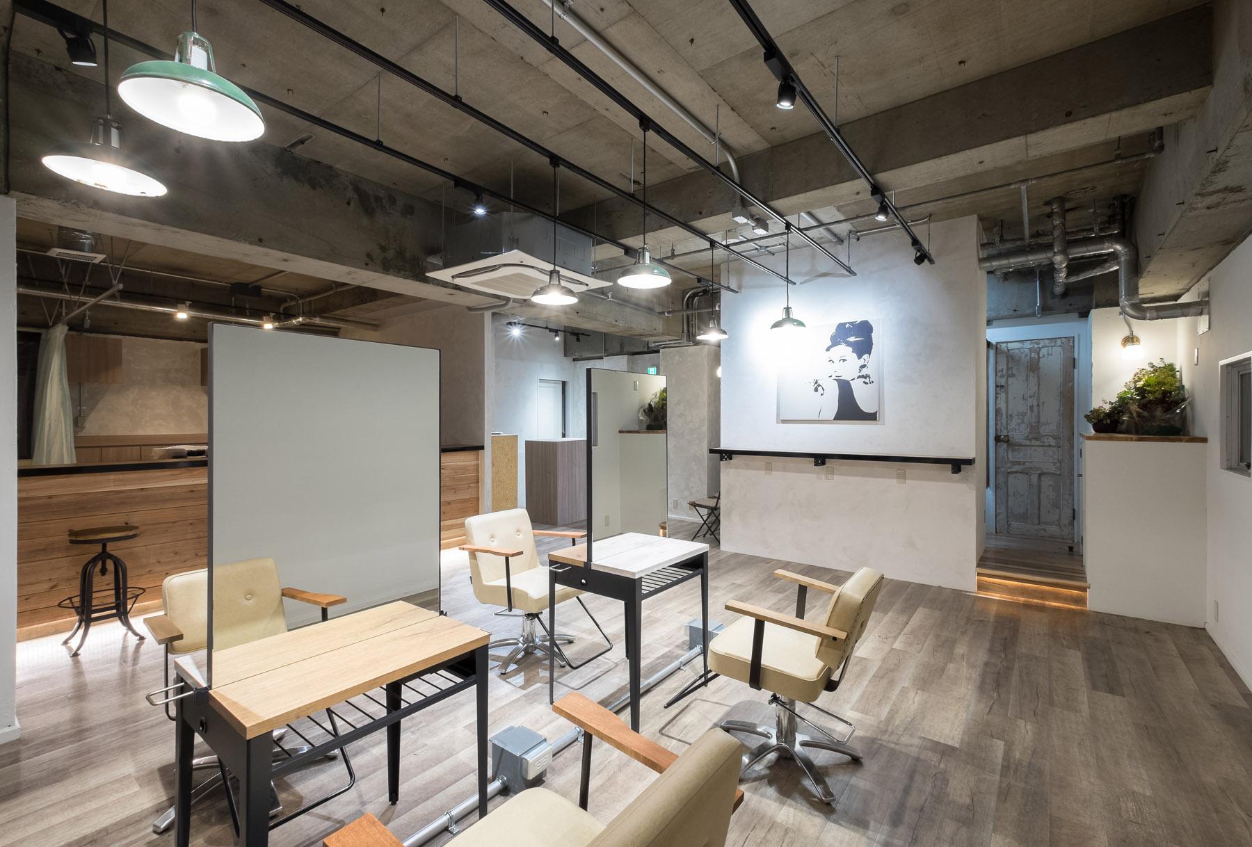 東京の美容室biaセット面デザイン