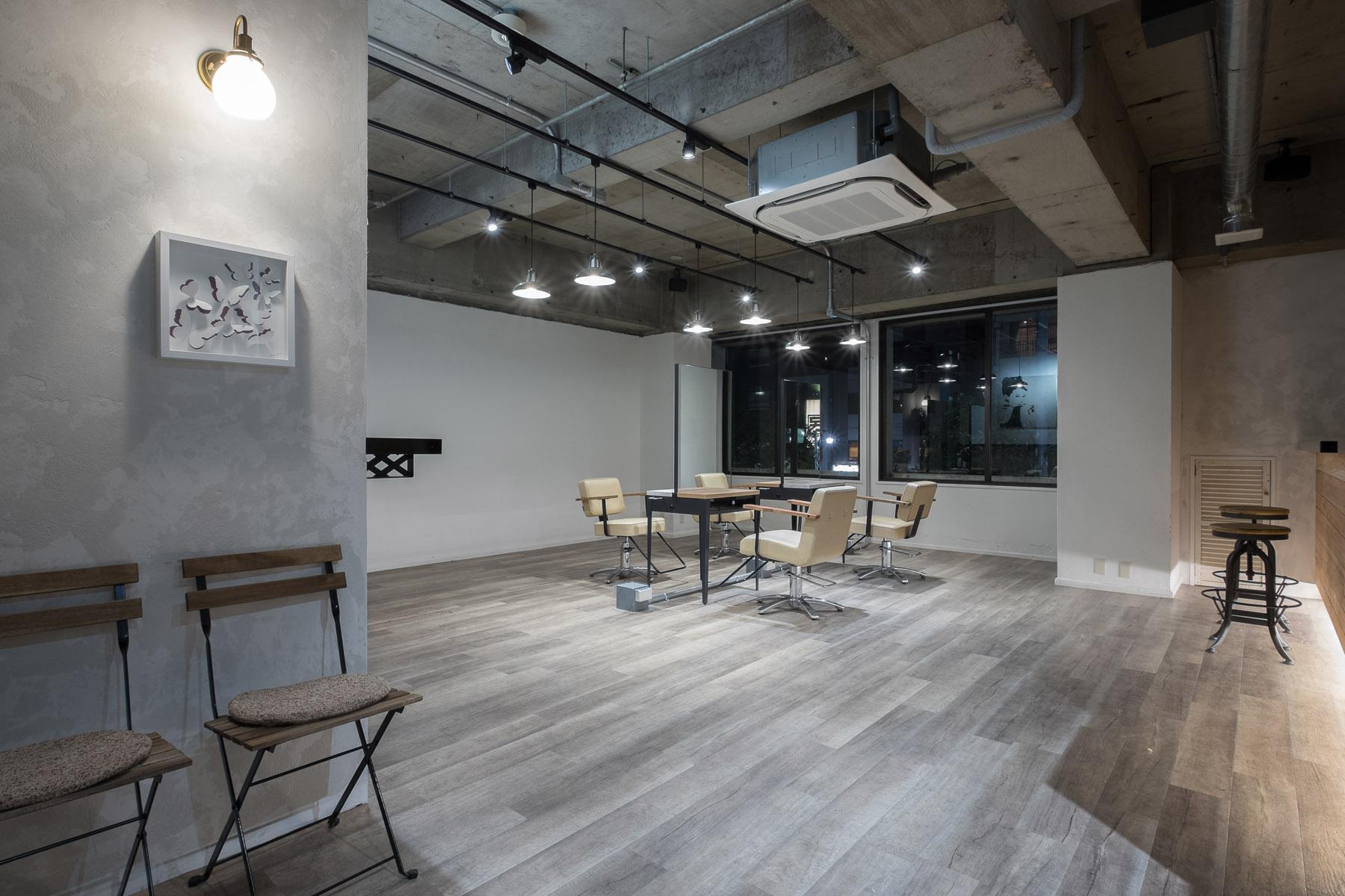 東京の美容室bia内装デザイン
