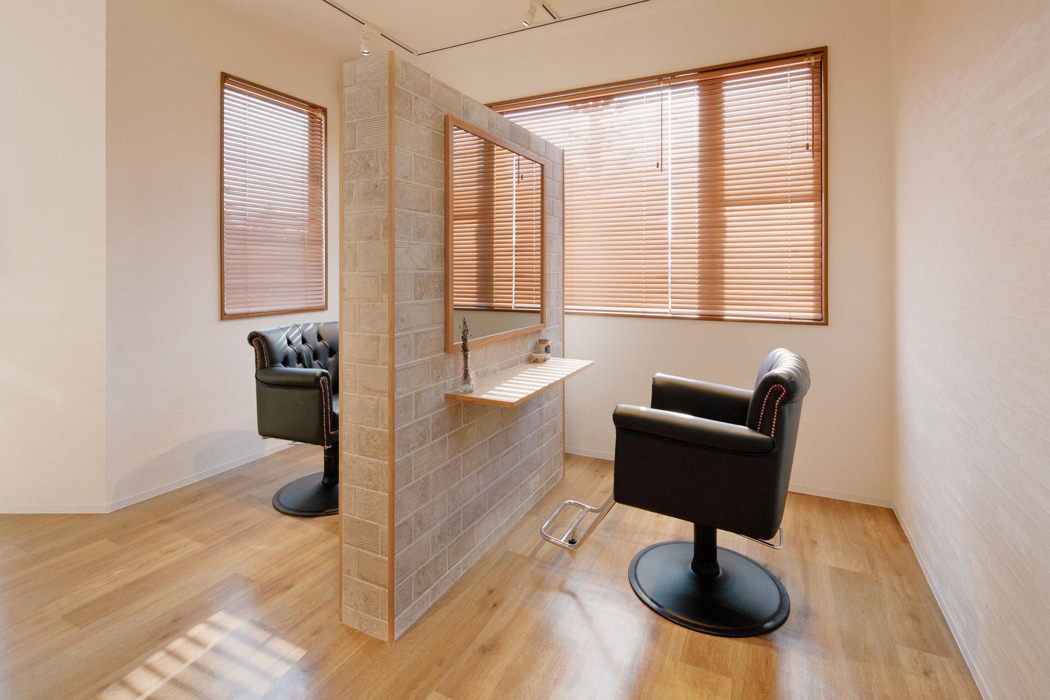 群馬の美容室TOKOHANAセット面デザイン
