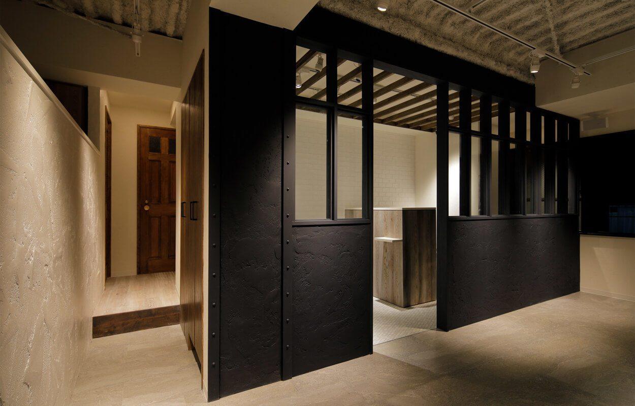 おしゃれな内装の美容室